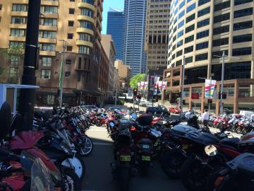 MotorBike Moped Vespa Parking Lot