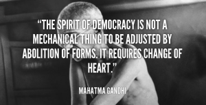Democracy Gandhi