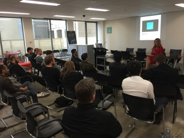 Naomi Simson from Red Balloon , Redii and Shark Tank speaking at WELOT lunch at iCentralCo by The Start Society